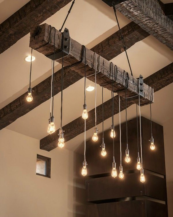 Rustic Industrial Chandelier, Rustic Home Decor Ideas Via Refresh Restyle