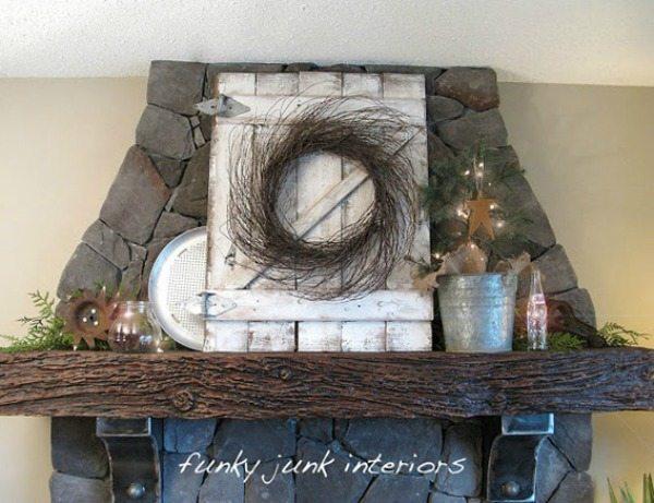 Rustic Mantel Decor, Rustic Home Decor Ideas via Refresh Restyle