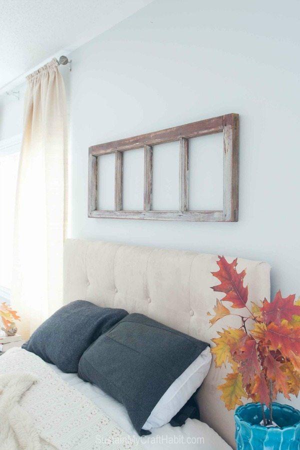 Rustic Repurposed Window Frame, Rustic Home Decor Ideas via Refresh Restyle