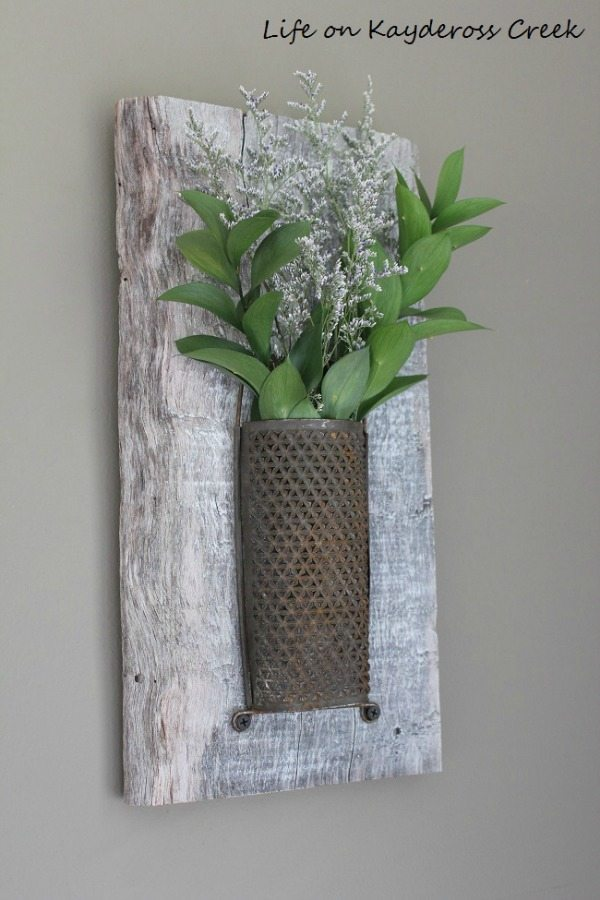 Rustic Wall Decor Vase, Rustic Home Decor Ideas via Refresh Restyle