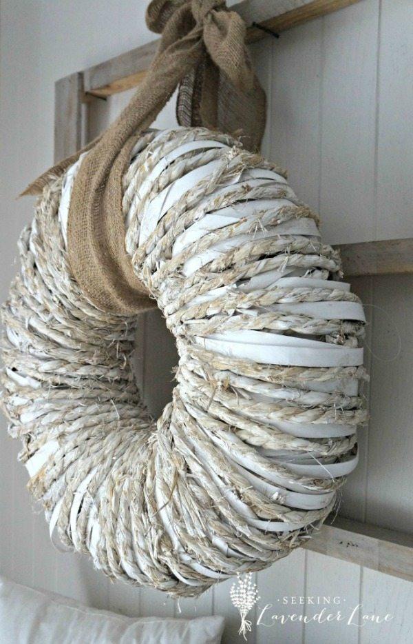 Rustic Wreath, Rustic Home Decor Ideas via Refresh Restyle