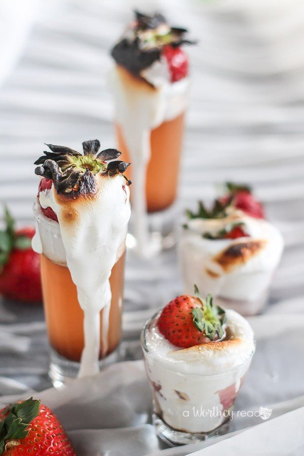Toasted Strawberry Shots, Easy Cocktail Recipes via Refresh Restyle