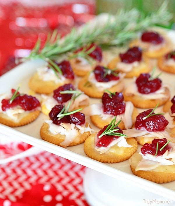 Turkey Cranberry Toppers, 20 Easy Party Appetizers