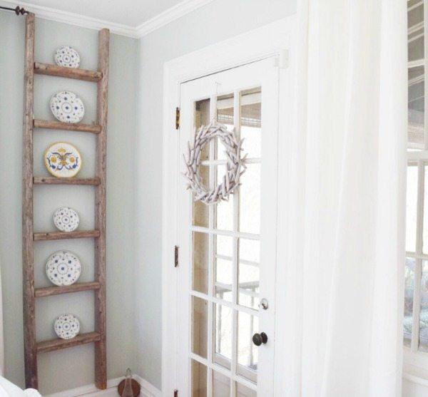 Vintage Ladder Shelf, Rustic Home Decor Ideas via Refresh Restyle