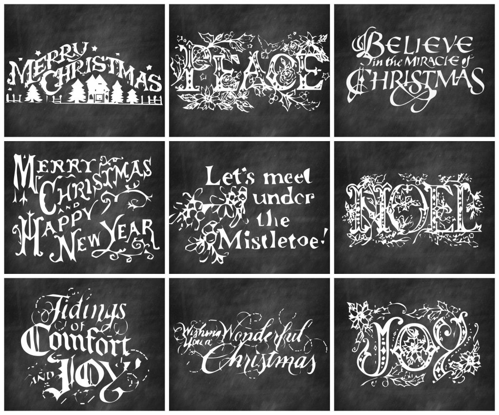 Christmas Chalkboard Gifts tags and more gift wrapping ideas