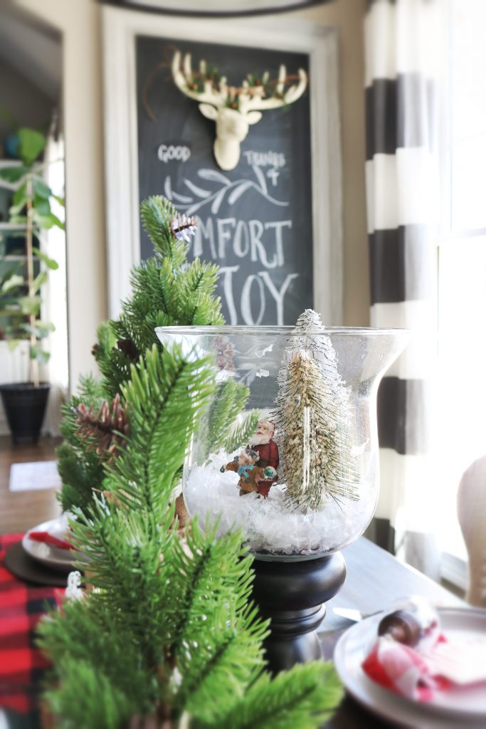 Easy to make Christmas Scene - make it in 10 minutes or less!