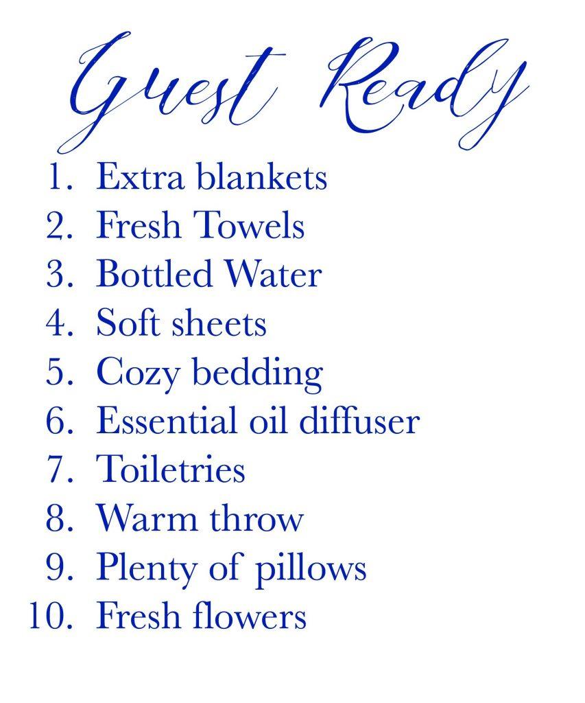 Guest Ready Checklist