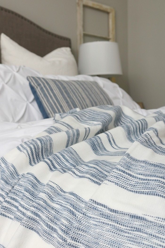 Great throw - indigo blue is perfect for the bedroom