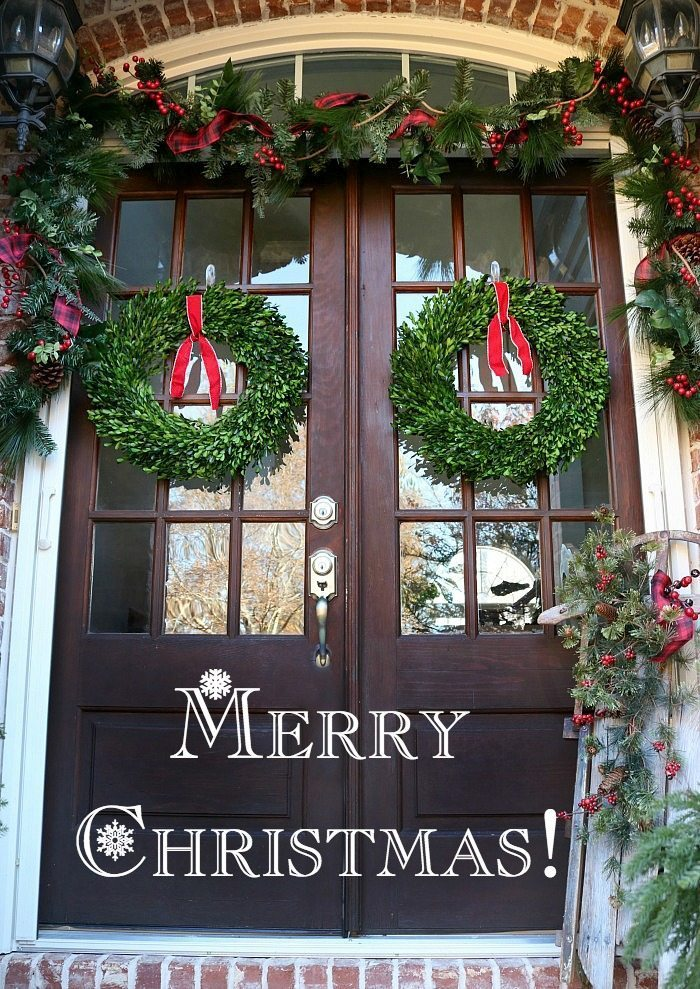 merry-christmas-preserved-boxwood-wreaths-look-so-beautiful-on-the-double-doors