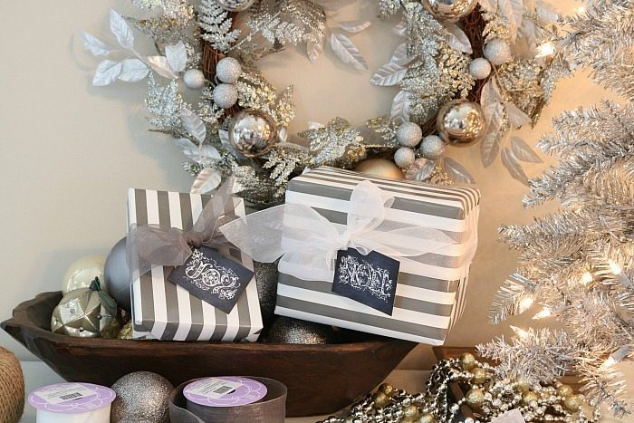 silver-and-gold-and-gray-gift-wrapping-with-free-chalkboard-gift-tags