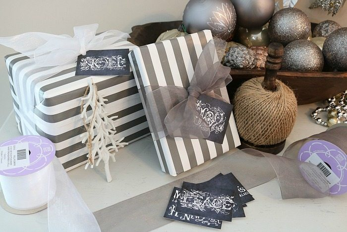 Wrapping station - perfect spot to wrap gifts
