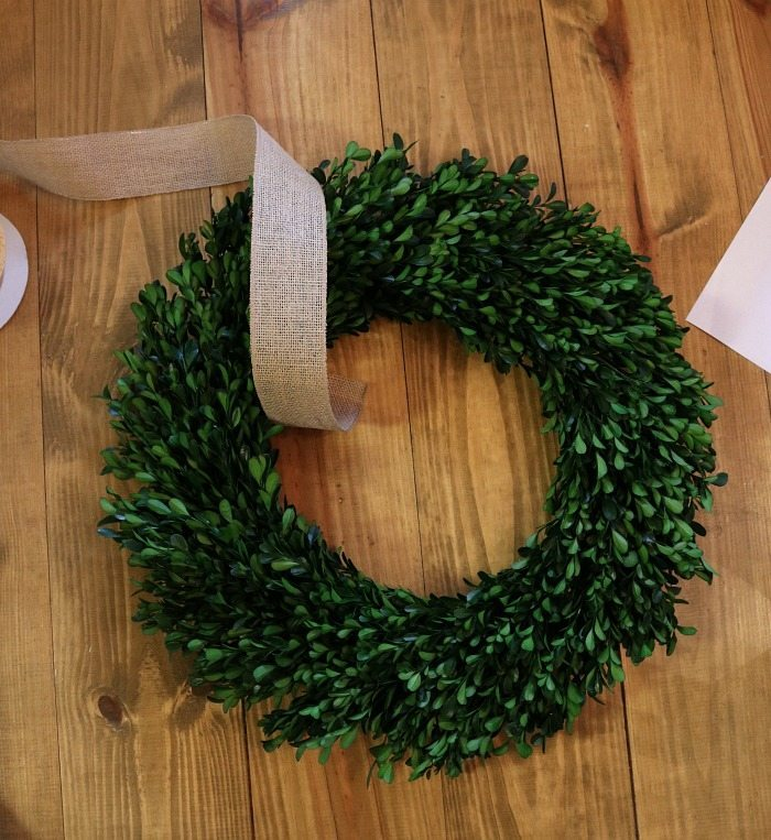 Add a wreath to the top of your chalkboard