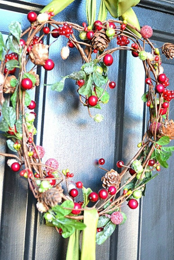 At the Picket Fence, Valentines Wreaths and Door Decor via Refresh Restyle