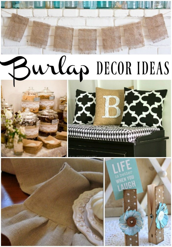 Best 28 burlap decor ideas refresh restyle burlap Burlap bag decorating ideas