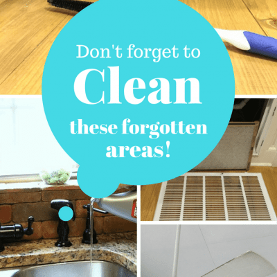 Clean these forgotten areas