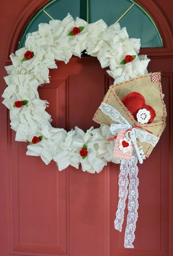 Cottage at the Crossroads, Valentines Wreaths and Door Decor via Refresh Restyle