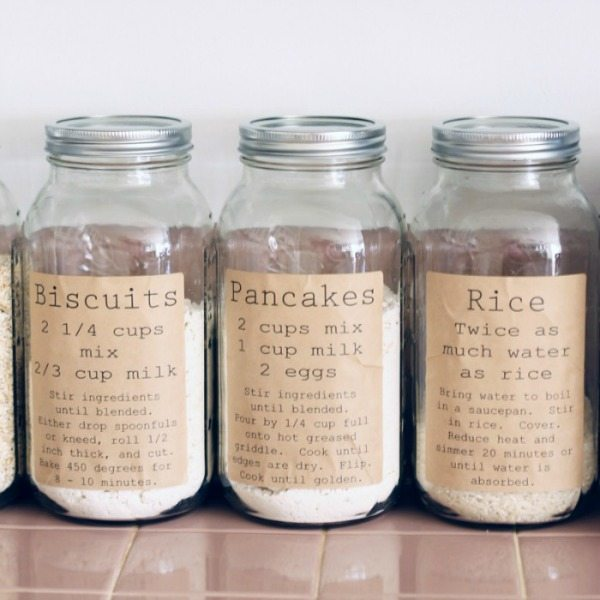 The Country Chic Cottage Pantry Organization Labels, Mason Jar Organizing Ideas via Refresh Restyle