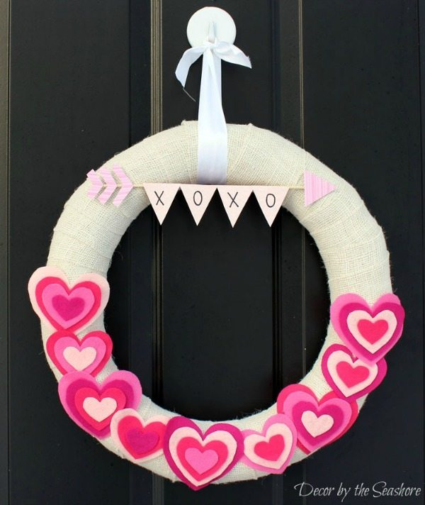 Decor by the Seashore, Valentines Wreaths and Door Decor via Refresh Restyle
