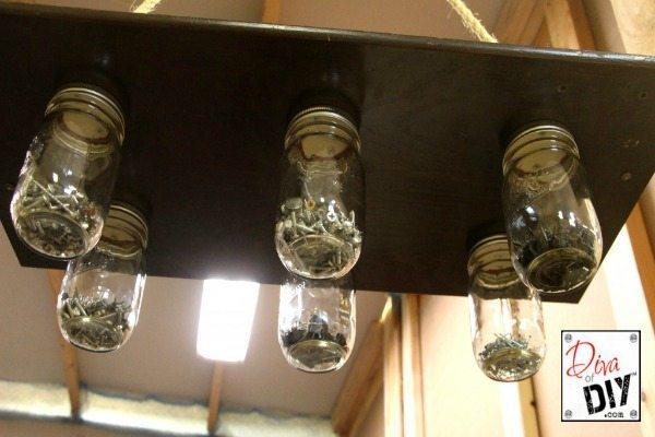 Diva of DIY Upcycled Hardware Storage, Mason Jar Organizing Ideas via Refresh Restyle