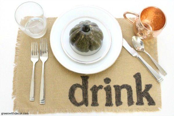 Easy DIY Placemats via Green with Decor, Burlap Decor Ideas via Refresh Restyle