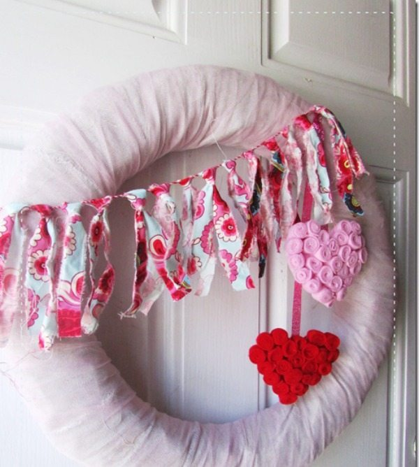 Girl Creative, Valentines Wreath and Door Decor via Refresh Restyle