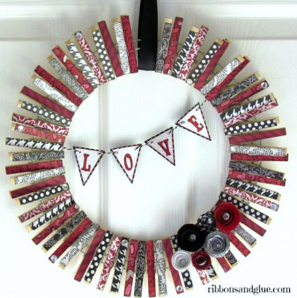 Ribbons and Glue, Valentines Wreaths and Door Decor via Refresh Restyle