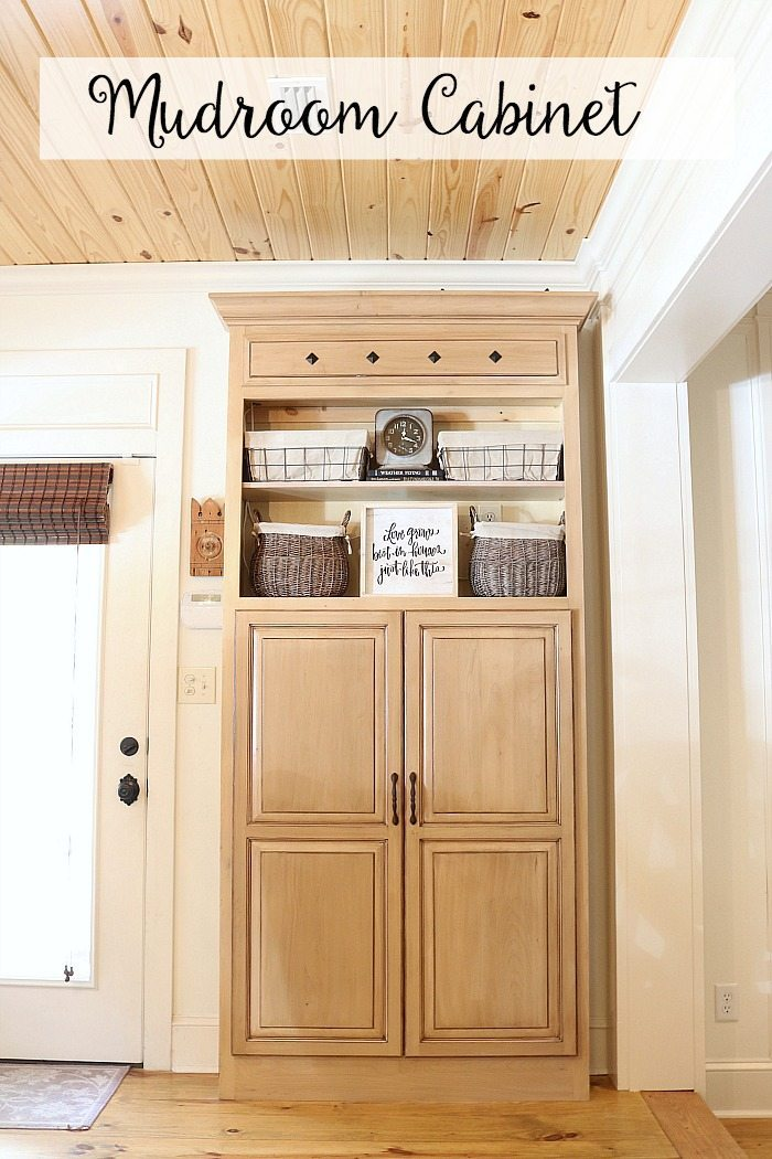 Small mudroom cabinet idea repurposed with the Kreg Pin jig