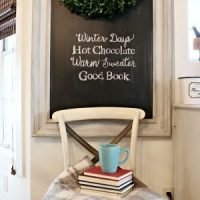 Winter Chalkboard Quote Idea