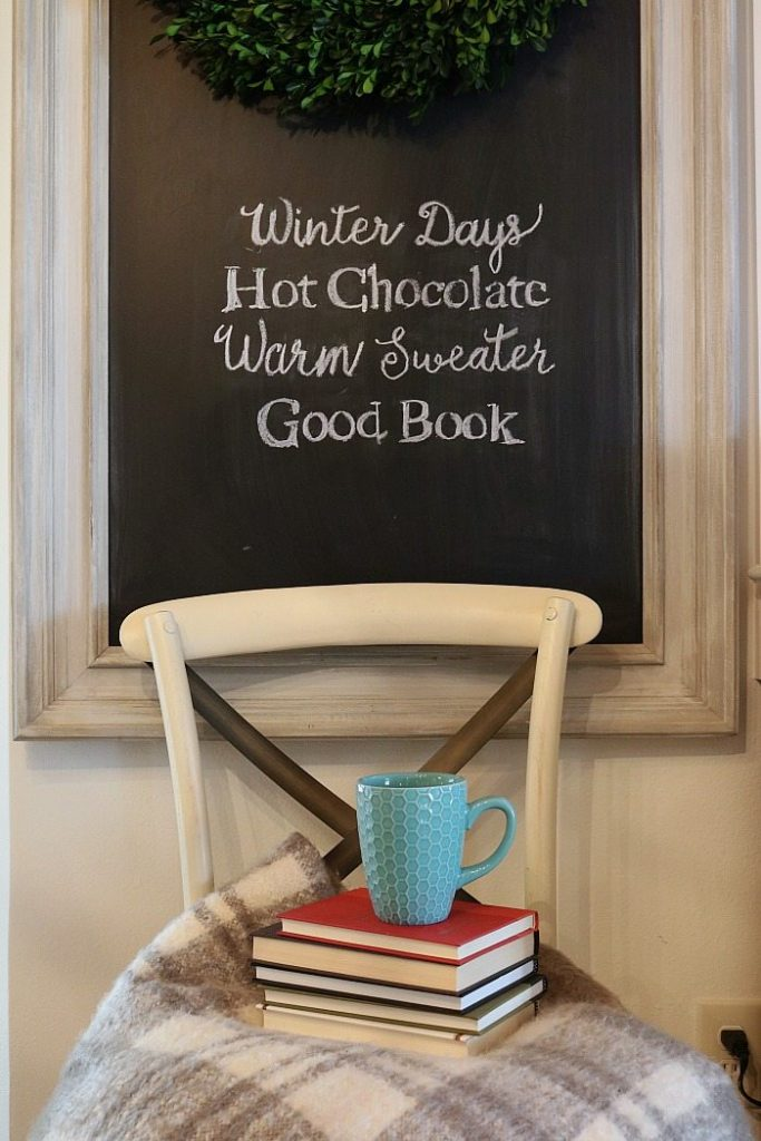 Winter decor idea for your chalkboard