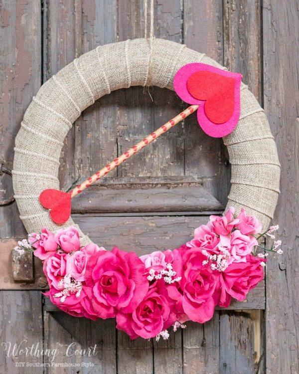 Worthing Court, Valentines Wreaths and Door Decor via Refresh Restyle