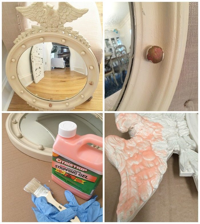 federal convex mirror before makeover