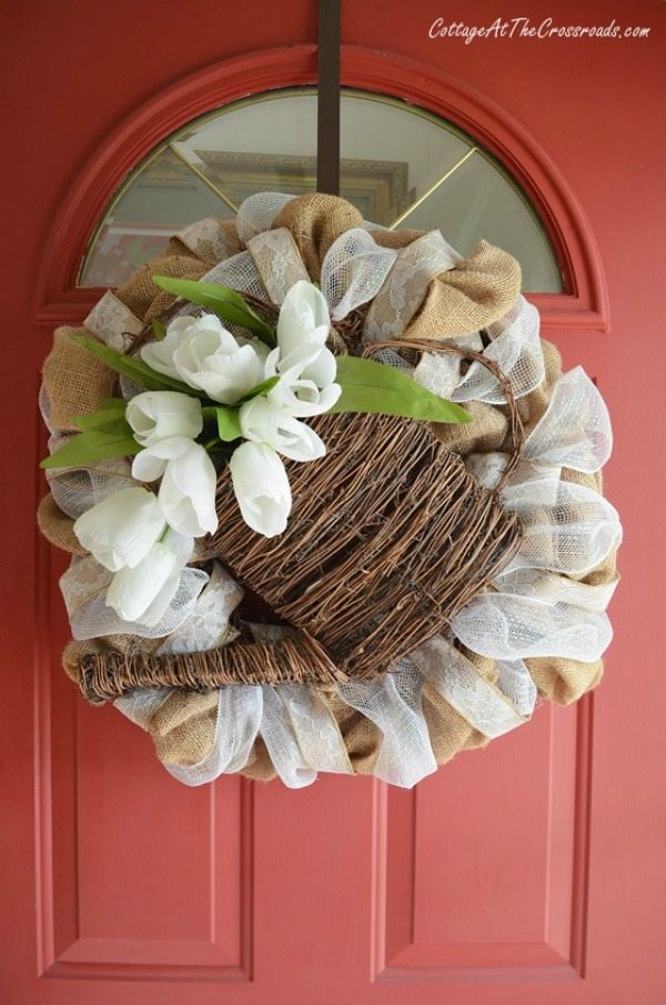 Cottage at the Crossroads Neutral Spring Wreath, Spring Wreath and Door Decor via Refresh Restyle