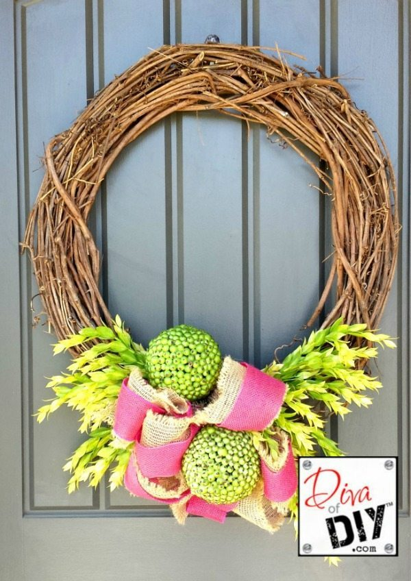 Diva of DIY Spring Wreath Project, Spring Wreaths and Door Decor via Refresh Restyle