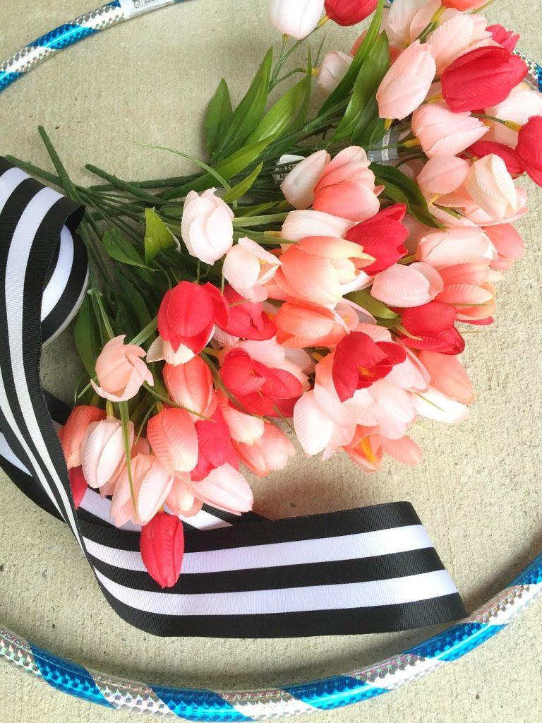 Hula Hoop Spring Wreath Refresh Restyle