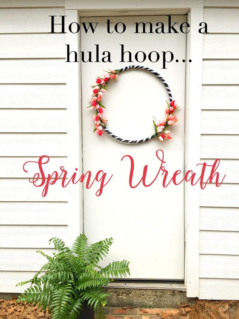 how to make this hula hoop spring wreath