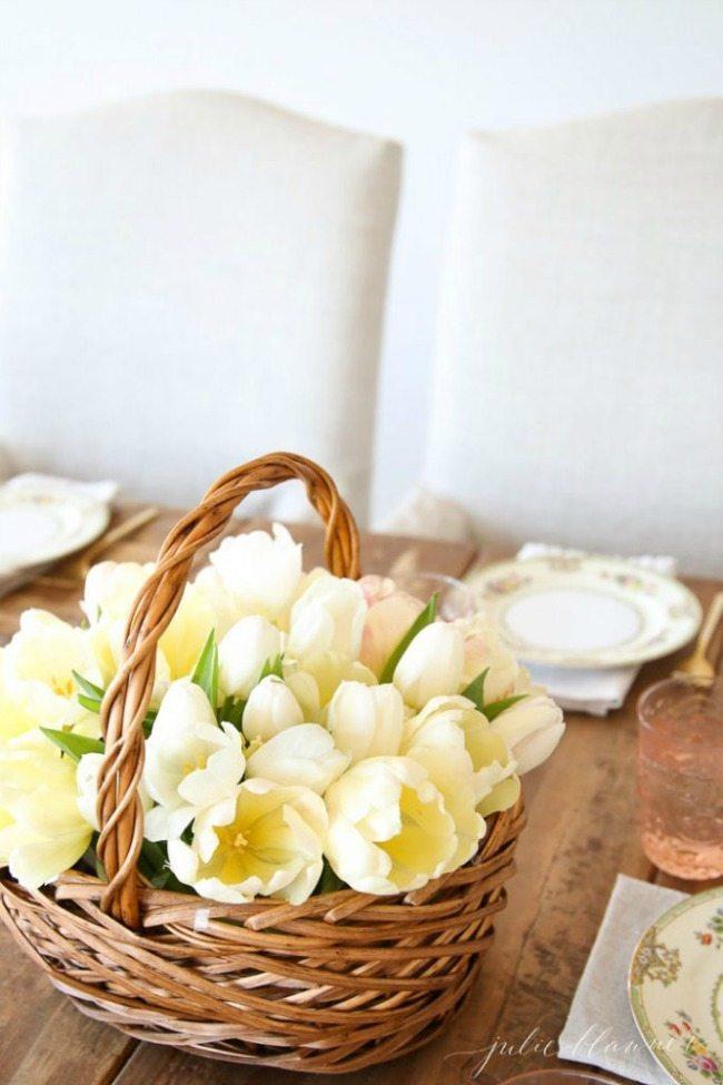 Julie Blanner, Spring Centerpieces via Refresh Restyle