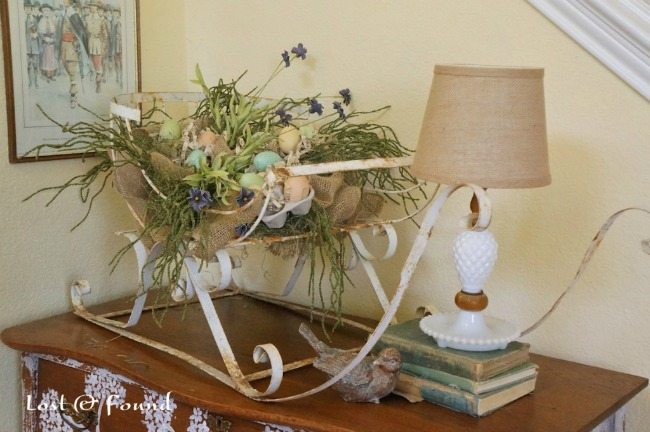 Lost and Found Decor, Spring Centerpieces via Refresh Restyle