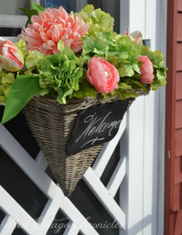 Red Cottage Chronicles Welcome Spring Wreath, Spring Wreaths and Door Decor via Refresh Restyle