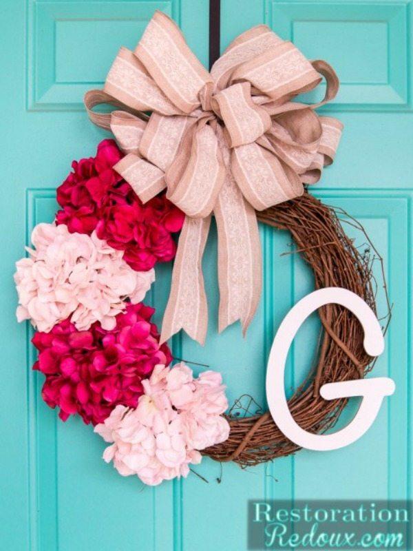 Restoration Redoux, Spring Wreaths and Door Decor via Refresh Restyle