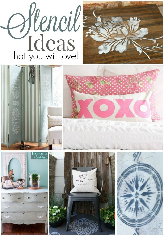 Stencil ideas that you will love easy DIY ideas for furniture and fabric