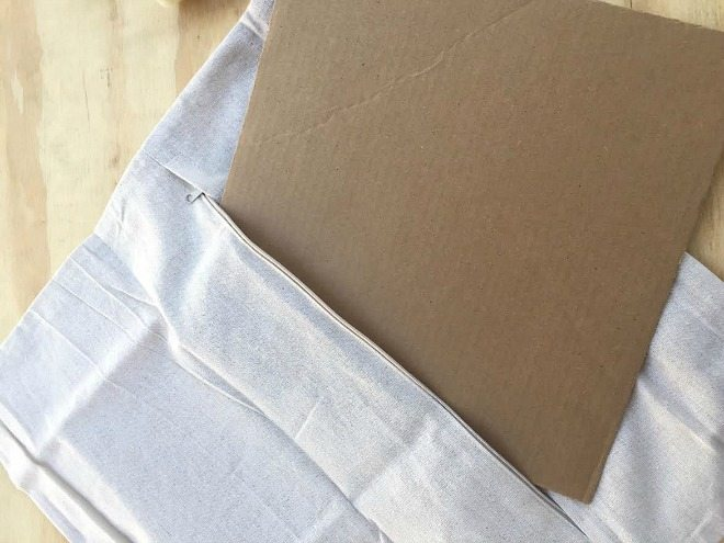 Use a piece of cardboard when stenciling to protect your project
