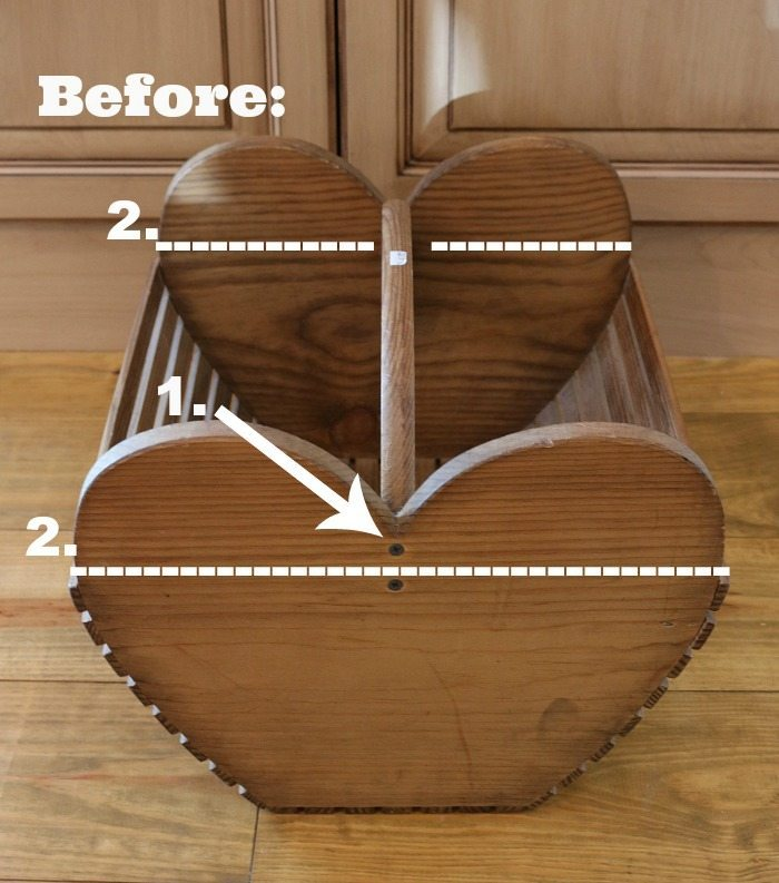 Repurposed idea: Wood tote makeover