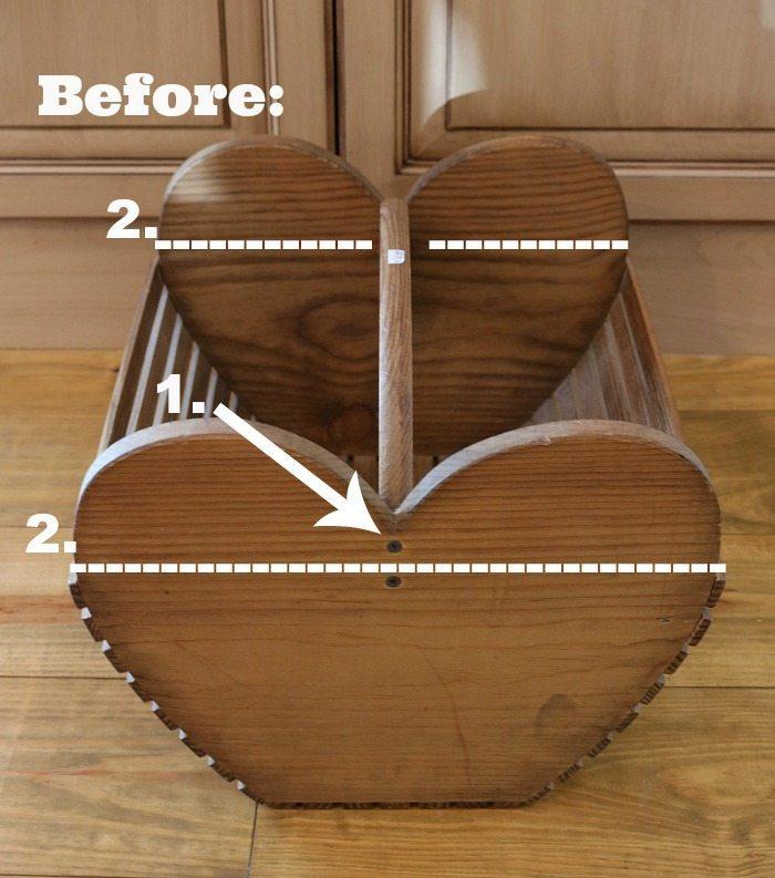 Repurposed idea: Wood tote makeover