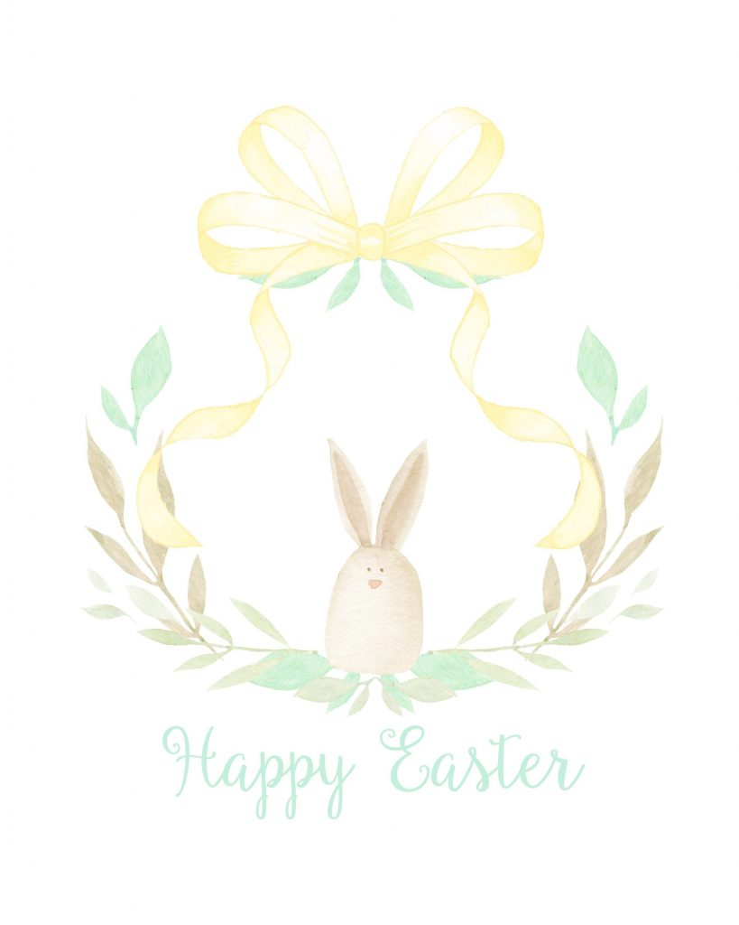 Happy Easter Water color print