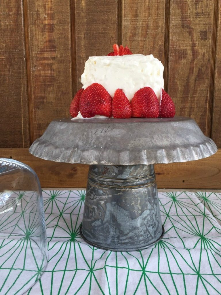 Make this galvanized cake plate