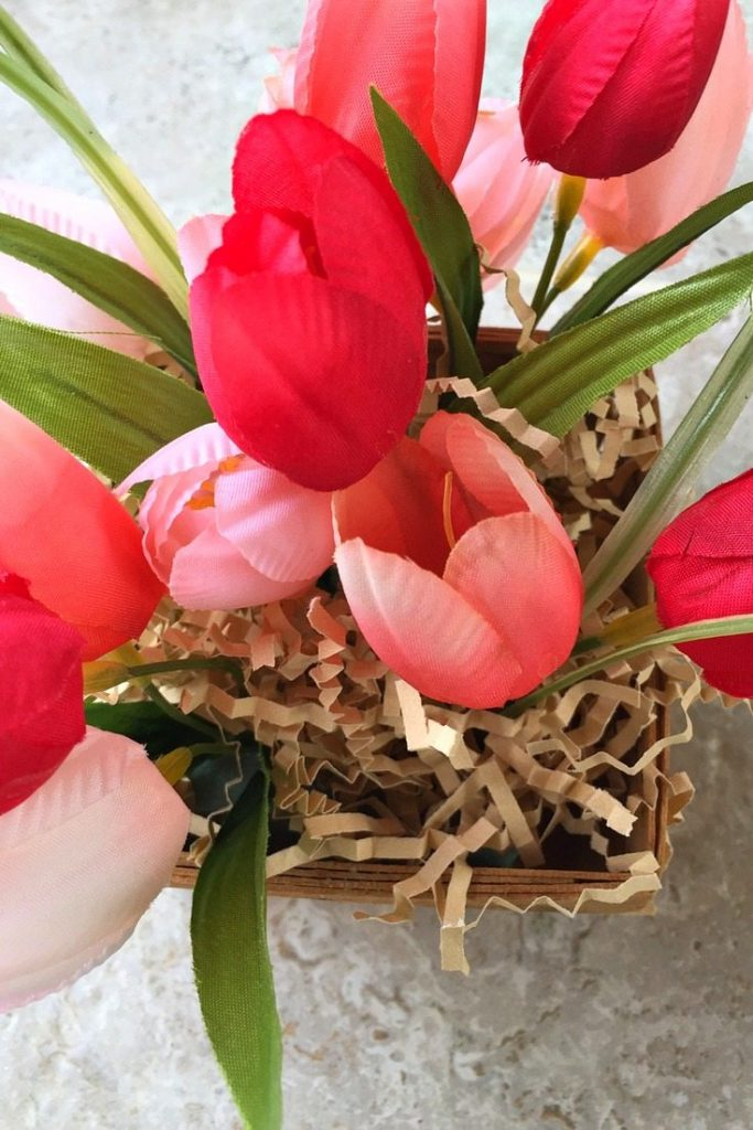 More Spring Tulips in berry baskets
