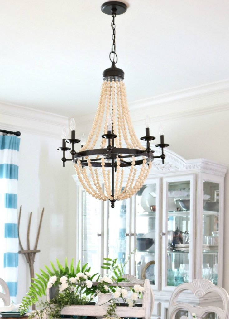 New beaded chandelier for the dining room at Refresh Restyle
