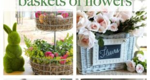 Spring flowers in baskets ideas for your spring farmhouse