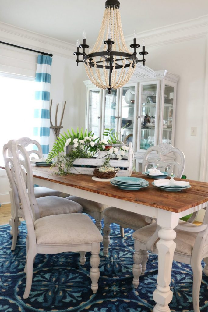 Spring table love the blues and greens at Refresh Restyle