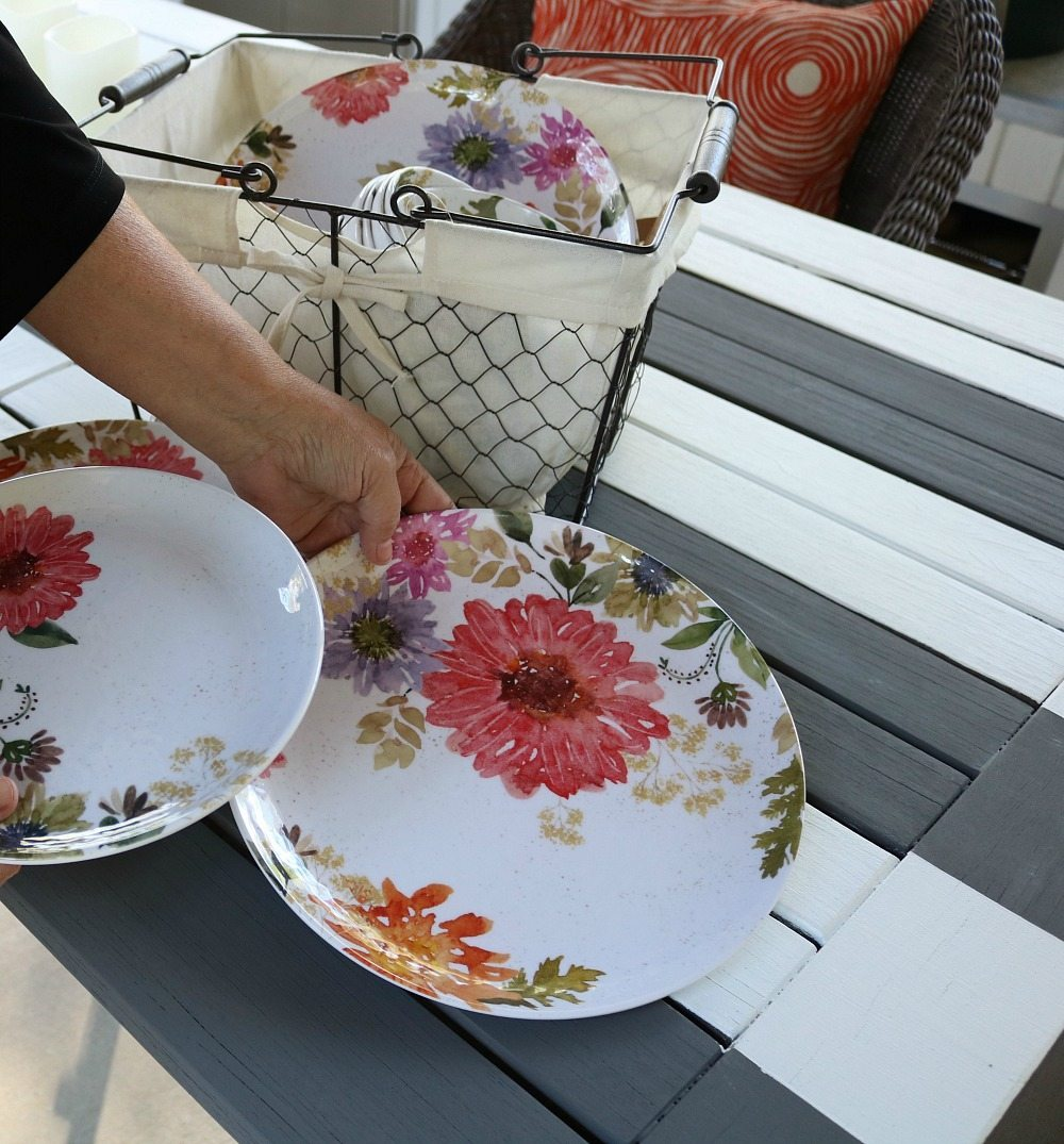 Better Homes and Gardens dinnerware perfect for entertaining & Sleek u0026 Comfy Outdoor Dining | Refresh Restyle
